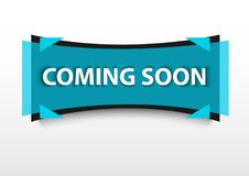 Coming soon banner promotion blue Stock Photo