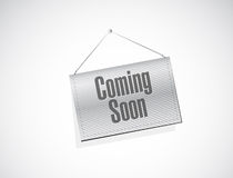Coming soon banner sign concept Royalty Free Stock Photos