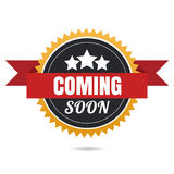 Coming soon  banner. Vector illustration. Royalty Free Stock Images