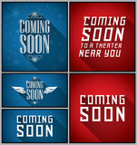 Coming Soon banners and labels Stock Image