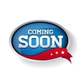 Coming soon blue button Stock Photos