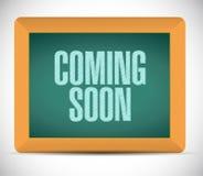 Coming soon board sign concept Stock Photos