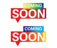 Coming soon button speech bubble Royalty Free Stock Photography