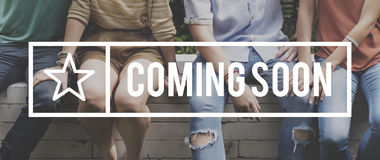Coming Soon Change Difference Future Innovation Concept Royalty Free Stock Photography
