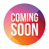 Coming Soon colorful button Stock Photo