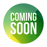 Coming Soon colorful button Royalty Free Stock Images