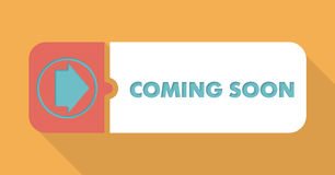 Coming Soon Concept in Flat Design. Stock Image