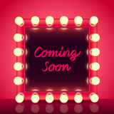 Coming soon concept with makeup mirror vector Royalty Free Stock Photo
