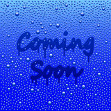 Coming soon concept with misted mirror vector Stock Photos
