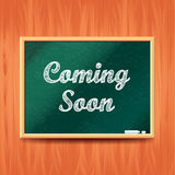 Coming soon concept with school board vector Royalty Free Stock Image
