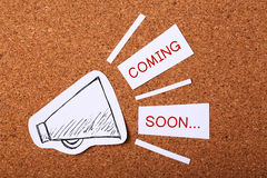 Coming Soon Concept Royalty Free Stock Photography
