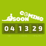 Coming soon with countdown timer. Vector illustration Royalty Free Stock Image