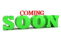 Coming soon 3D lettering Royalty Free Stock Photography