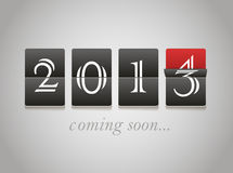 2014 coming soon. Digital board Stock Images