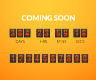 Coming Soon, flip countdown timer panel Royalty Free Stock Image