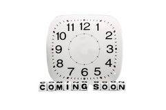 Coming soon with full clock Royalty Free Stock Images