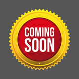 Coming Soon gold button Royalty Free Stock Images