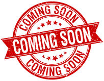 Coming soon grunge retro red stamp Royalty Free Stock Images