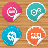 Coming soon icon. Repair service tool and gear. Royalty Free Stock Photo