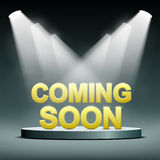 Coming soon illuminated. By a spotlight. Stock  image Royalty Free Stock Photography