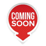Coming soon label with arrow Royalty Free Stock Photo