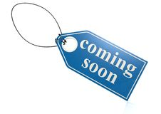 Coming soon label Stock Photos