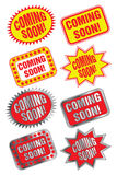 Coming Soon Labels Royalty Free Stock Photo