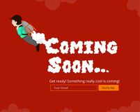 Coming Soon Website Template. Royalty Free Stock Images
