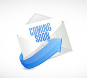 Coming soon mail sign concept Royalty Free Stock Photo
