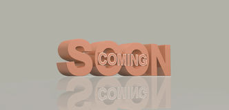 Coming soon message 3D render Royalty Free Stock Images