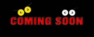 Coming soon message Stock Image