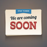 Coming soon message. Stock Photo