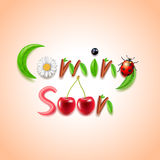 Coming soon nature concept vector Royalty Free Stock Photography