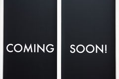 Coming soon notice Stock Image