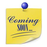 Coming soon paper message on white background Royalty Free Stock Image