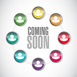 Coming soon people sign concept Stock Image