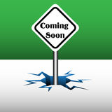 Coming soon plate Royalty Free Stock Photo