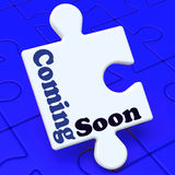 Coming Soon Puzzle Shows New Arrival Or Promotion Royalty Free Stock Images