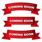 Coming Soon red ribbon Royalty Free Stock Images