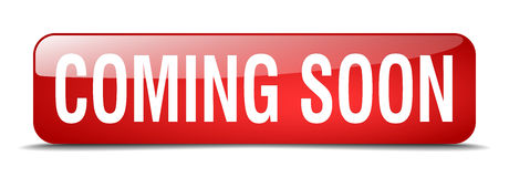 Free Coming Soon Red Square Isolated Web Button Royalty Free Stock Photos - 88646168