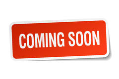 Coming soon red square sticker Royalty Free Stock Photography