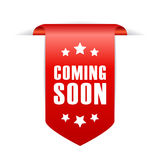 Coming soon ribbon Stock Photography