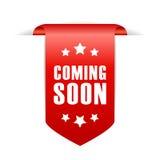 Coming soon ribbon Stock Photography