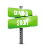 Coming soon road sign concept Stock Image