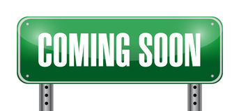 Coming soon road sign illustration design Royalty Free Stock Photo