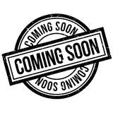 Coming Soon rubber stamp Stock Photo