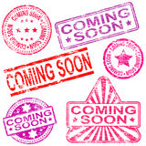 Coming Soon Rubber Stamps Stock Photos