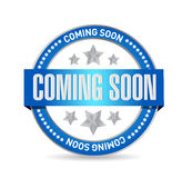 coming soon seal sign concept Royalty Free Stock Photos