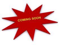 Coming soon sign Stock Images