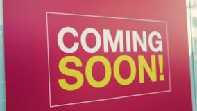 Coming soon sign - changing focus stock footage